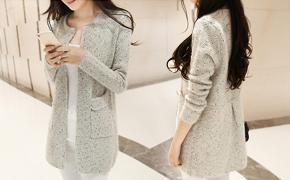 新款毛衣外套特卖,韩版中长款宽松显瘦、独特收腰剪裁,修身百搭,秋季必备单品!