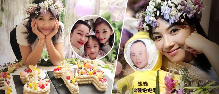 刘涛生日好友秦海璐与女儿相陪,老公王珂变玩偶暖心示爱